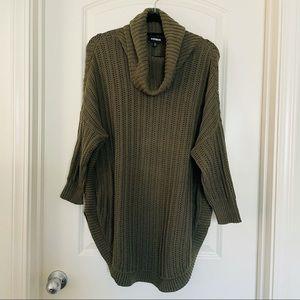 Olive green Express longline sweater | medium
